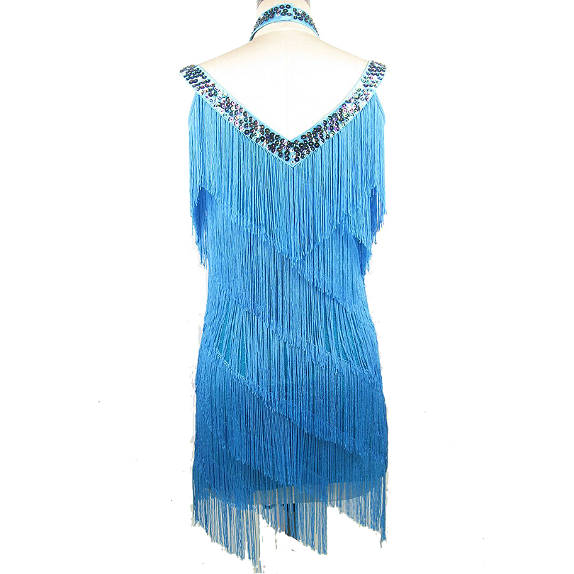 Image 3 - Free Shipping 1920s Flapper Tassel Dress Women Charleston Party Costumes for Latin Dance Dress Salsa Tango Ballroom Performance-in Latin from Novelty & Special Use