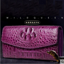 VV new crocodile wallet women's clutch bag long high-volume high-volume women's leather star of the same style