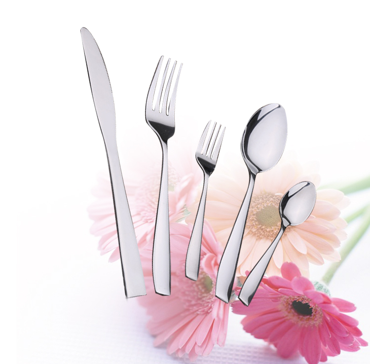 5 Piece Flatware Sets Dinner font b Knife b font Fork Spoon Tableware Stainless Steel Mirror