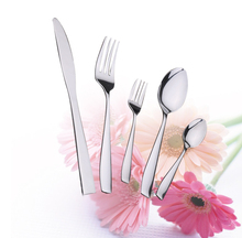 5-Piece Flatware Sets Dinner Knife Fork Spoon Tableware Stainless Steel Mirror Polishing, Use for Home, Kitchen or Restaurant