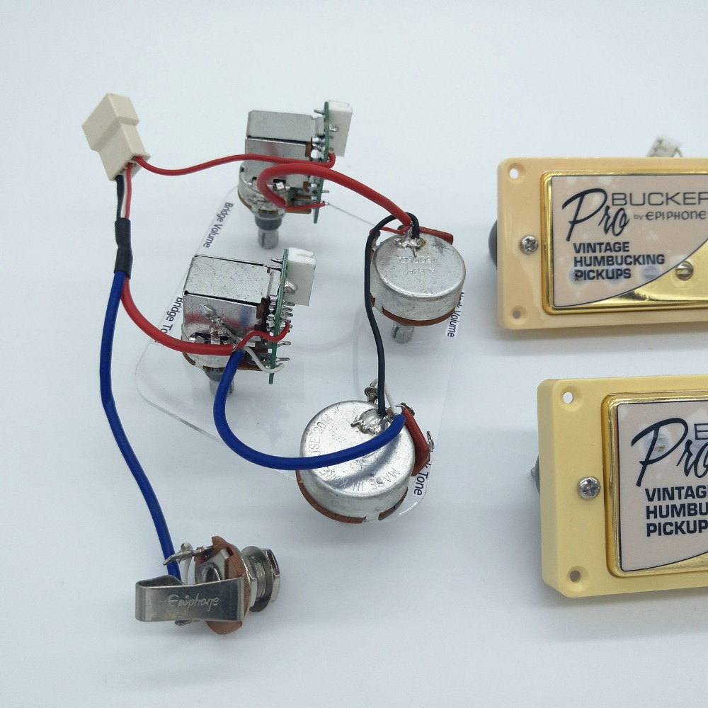 1 Set 100% Original Epi Standard PRO Alnico Humbucker Pickup Guitar Wiring  Harness Push Pull Switch Potentiometers-in Guitar Parts & Accessories from  Sports ...