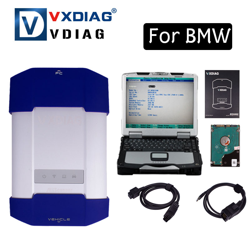 2017 NEW ALLSCANNER VXDIAG MULTI Diagnostic Tool For bmw Powerful than Icom A2 A3 NEXT Original software with CF30 Laptop  2017 for bmw icom a2 diagnostic scanner full set for bmw icom a2 b c with software 2017 03v icom a2 for bmw in cf 19 laptop