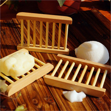 Household Storage Soap Tray Box Wooden Soap Dish Drainer Bathroom Shower Case Holder Container Kitchen Bamboo Soap Storage Plate bathroom shower soap box dish storage plate tray holder case soap holder high quality housekeeping container organizers