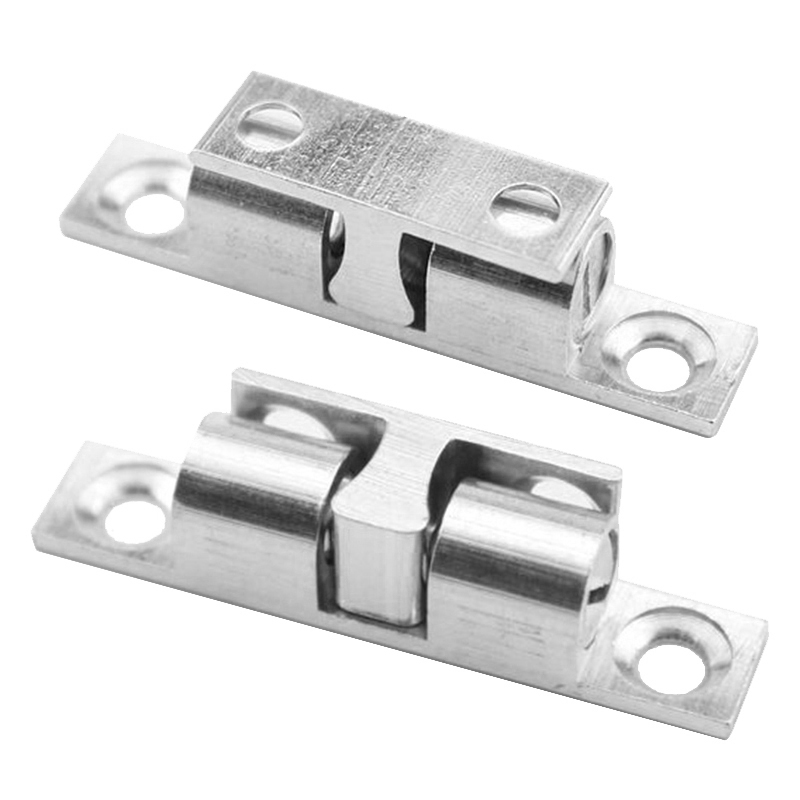 1pcs 60mm Silver Touch Beads Lock Door Spring Clip Cabinet