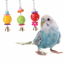 Домашнее животное кусается попугай птица поднимается жевательные игрушки Колокольчик качели клетка подвесной попугай