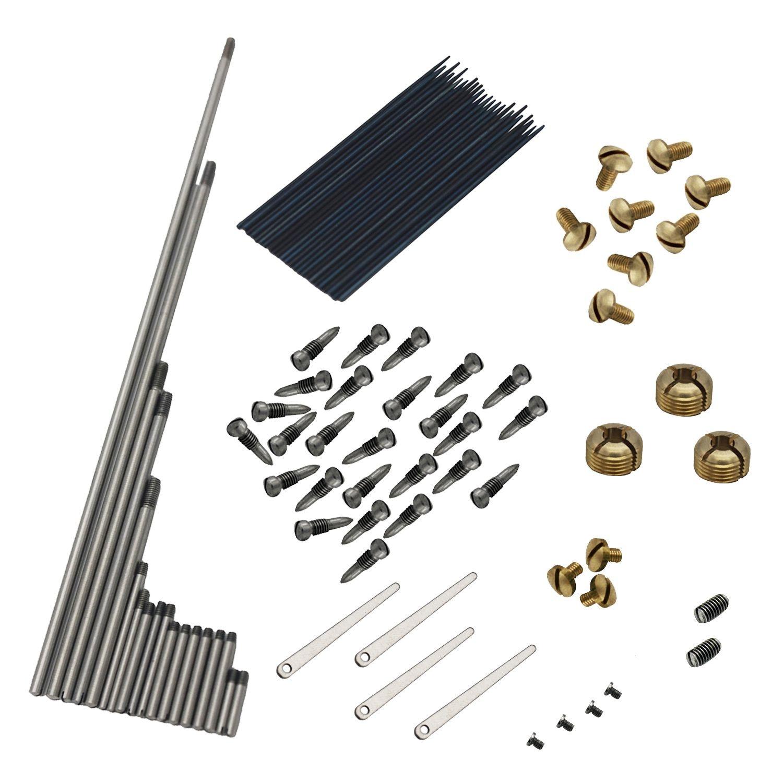 New 92pcs/set Alto Sax Saxophone Repair Parts Screws + Saxophone Springs Kit DIY Tool Woodwind Instrument Accessories