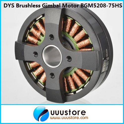 FPV High Performance Brushless Gimbal Motor BGM5208-75HS for FPV Aerial Photography hj5208 75t brushless gimbal motor for 5d2 camera fpv aerial photography black