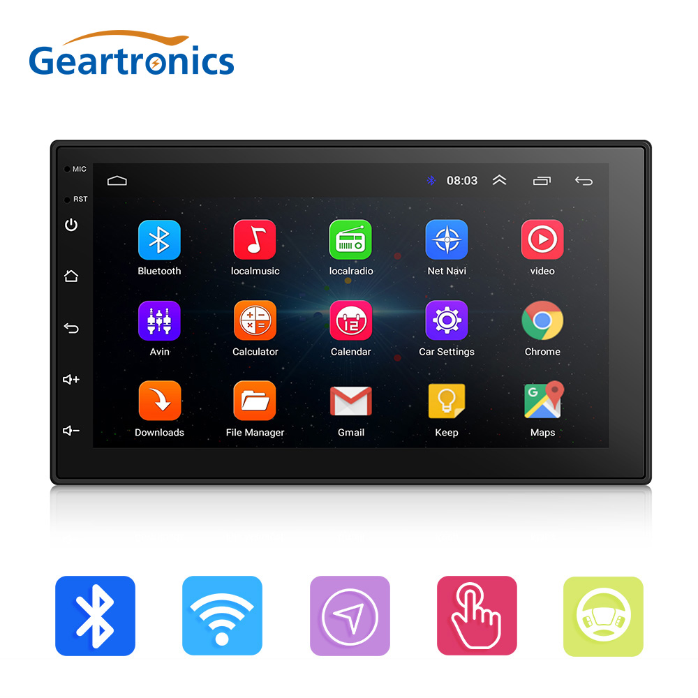 2 Din Android 8,0 автомобильный Радио стерео Мультимедиа Play gps навигация Wi Fi Bluetooth USB авторадио FM аудио камера DVD плеер
