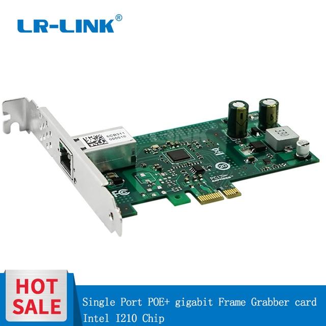 LR LINK 2001PT POE Gigabit Ethernet POE + מסגרת חוטף PCI Express 1xRJ45 רשת מתאם תעשייתי לוח וידאו כרטיס Intel I210