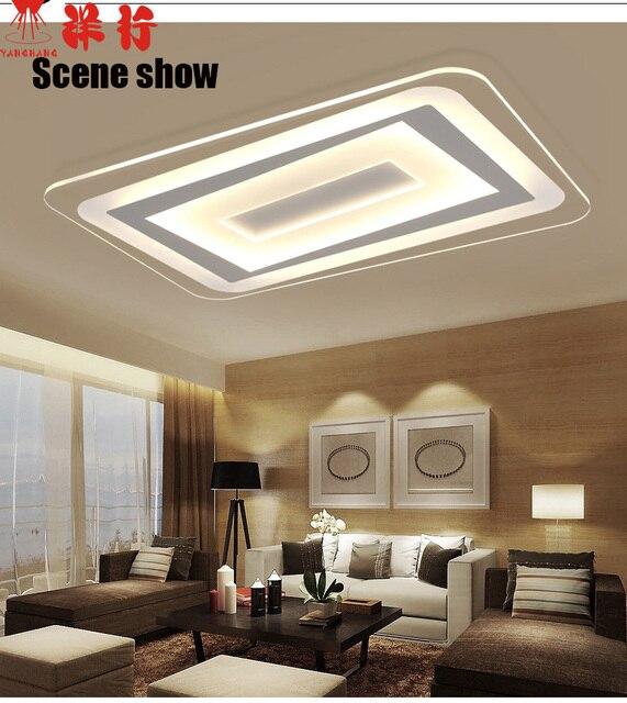 Led verlichting zitkamer sfeer rechthoekige absorberen lichtkoepel ...