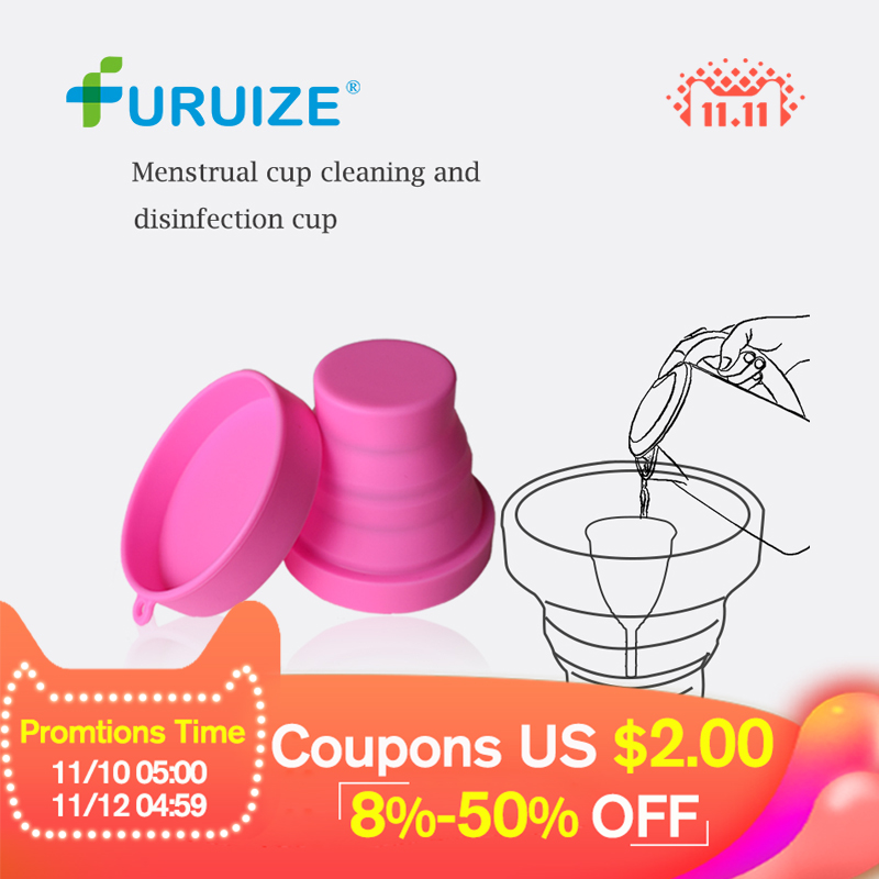 Menstrual Sterilizing Cup Collapsible Silicone Cup flexible to clean Menstrual Cup Recyclable Camping Foldable Sterilizer Cup cup