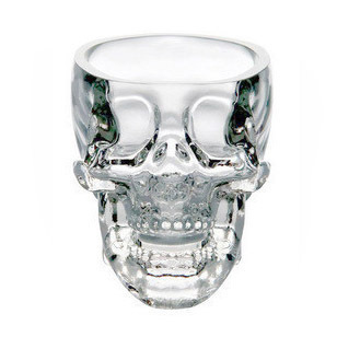 Free shipping Personalized pirate wine glass crystal head vodka skull cup
