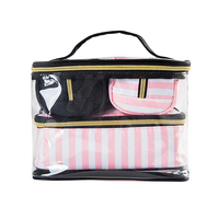 4Pcs Lady S Cosmetic Bags Set Portable Makeup Tools Organizer Case Toiletry Vanity Pouch Travel Box