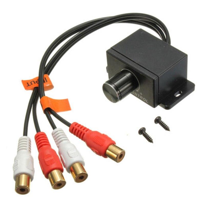 TOLYLE Maison De Voiture Audio Amplificateur Basse RCA Niveau de Gain Contrôle Du Volume Bouton LC-1 Noir