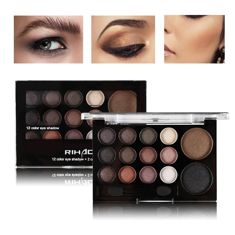 Professional 14 Warm Color Eyeshadow Palette Neutral Nude font b Eye b font font b Shadow