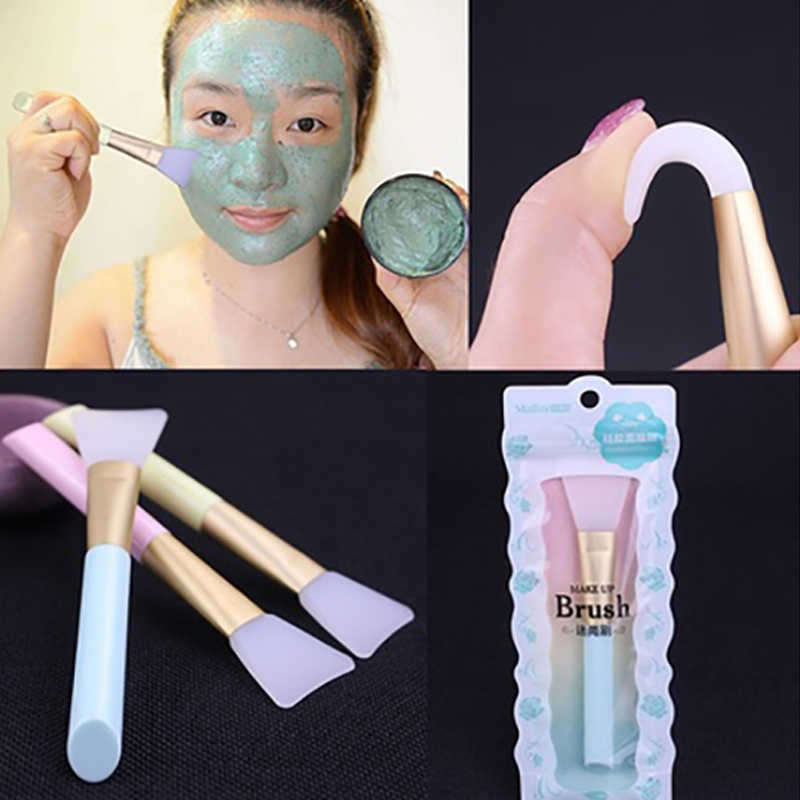 1PC Professional Facial Mask Stirring Brush Silicone Cosmetic Makeup Soft Brush Brochas Para Maquillaje Cosmetic Tools TSLM1