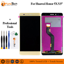 for Huawei Honor 5X LCD Display + Touch Screen FHD 100% New Digitizer Assembly Replacement For Huawei Honor 5X Phone 100% new arrival 1pcs for huawei honor 7 mobile phone lcd display with touch screen digitizer assembly replacement free shipping