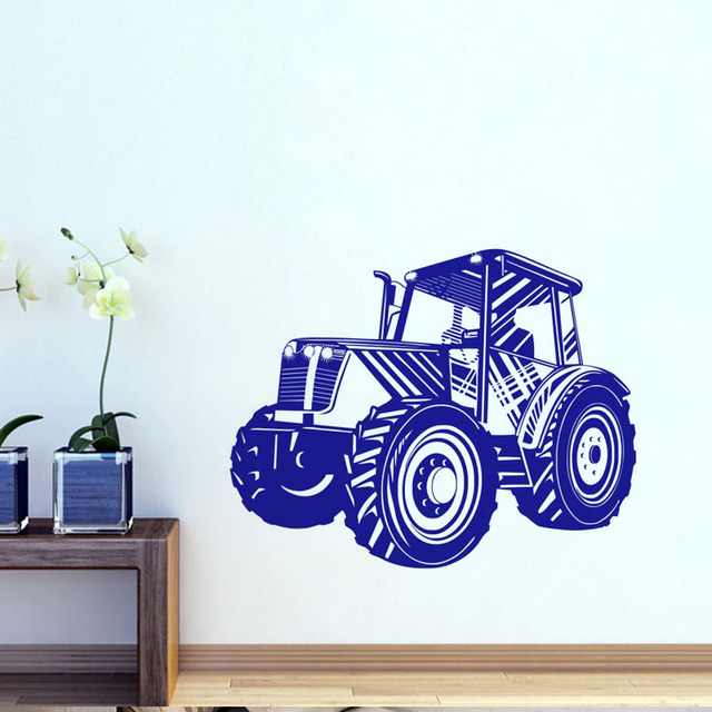Driving Tractor Wall Stickers Transport Vinyl Art Wall Decal ...