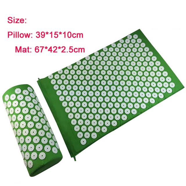 Health Care Pain Relief Acupuncture Massager Cushion for Shakti Acupressure Yoga Body Massage Mat (appro.67*42cm) Drop shipping