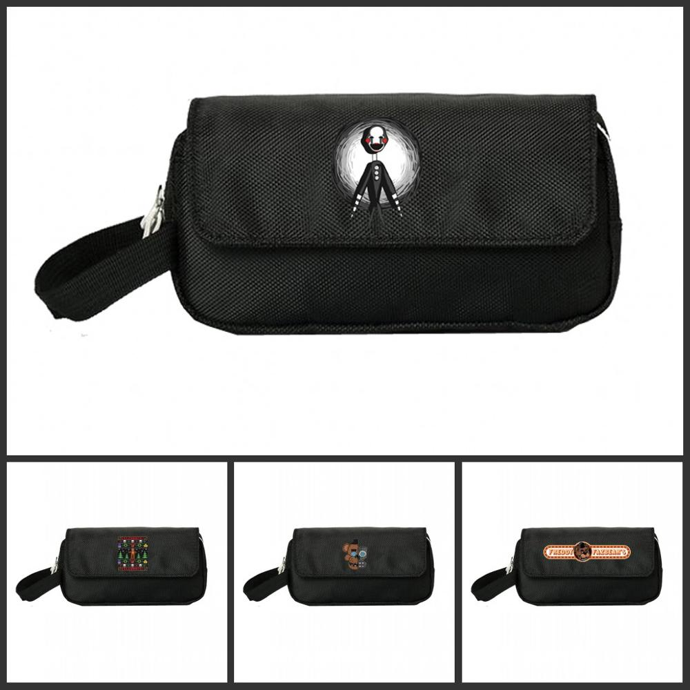 Five Nights At Freddy's Pencill Case Women Cosmetic Cases Makeup Bag Child Girls Student Double Pencill Bag Handbag Gift