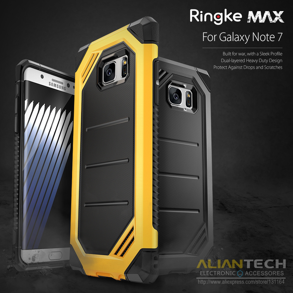 various colors acd0f 0575f Aliexpress.com : Buy 100% Original Ringke Max Case for Samsung Galaxy Note  7 Advanced Dual Layer Heavy Duty Protection Shock Absorption Armor from ...