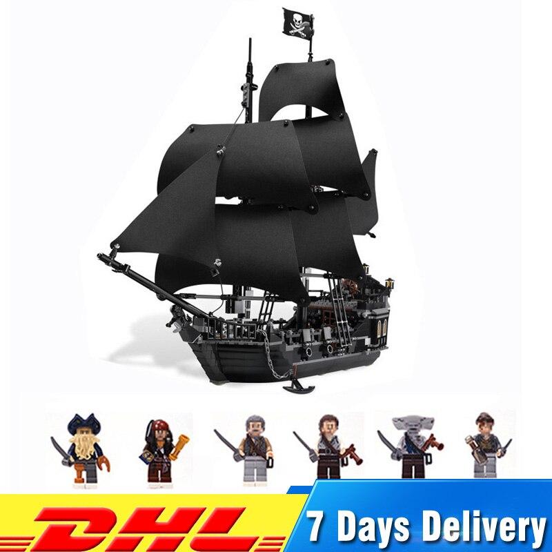 Совместимость с legoingly 2018 Пираты Карибского моря 4184 корабль черный жемчуг здания Конструкторы комплект мальчик игрушечные лошадки для детей...