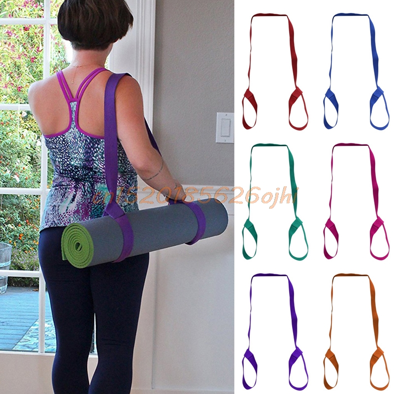 New Yoga Mat Sling Carrier Shoulder Carry Strap Belt Exercise Stretch Adjustable ...