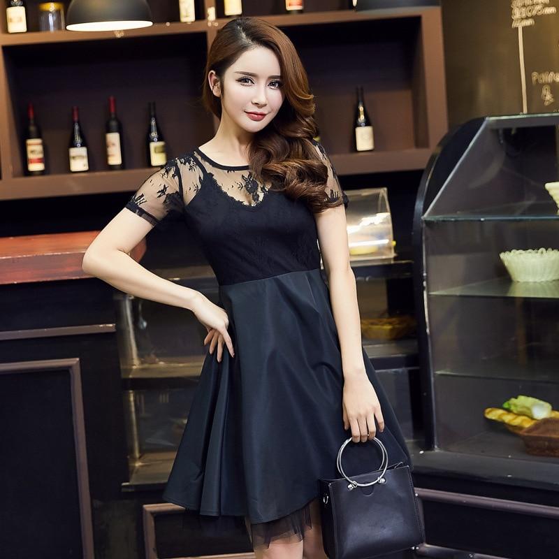 ... Women s sexy Black Lace Dresses Europe Vintage formal dress High-grade  Plus size dress suit ... 7885be55928e