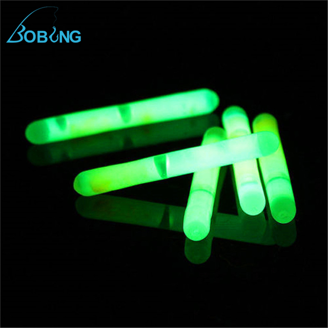Buy bobing hot sale 50pcs lot fluorescent for Glow in the dark fishing pole