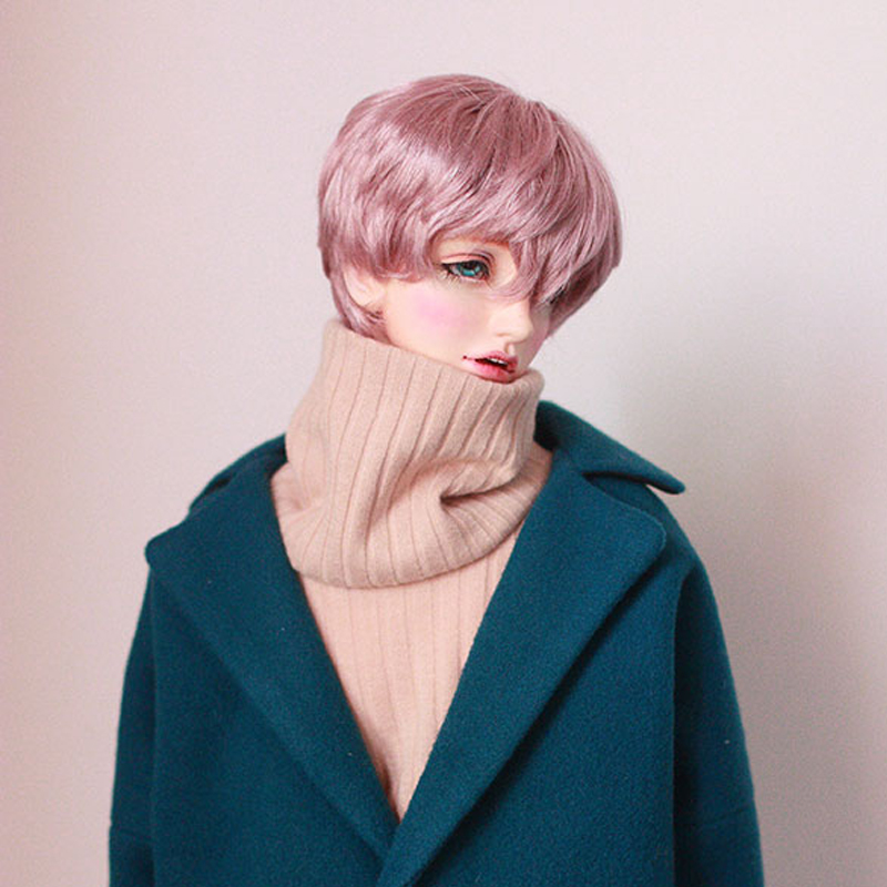 Bybrana BJD Wig Boy Pink Short Wigs For Dolls BJD 1/3 1/4 1/6 Free Shopping