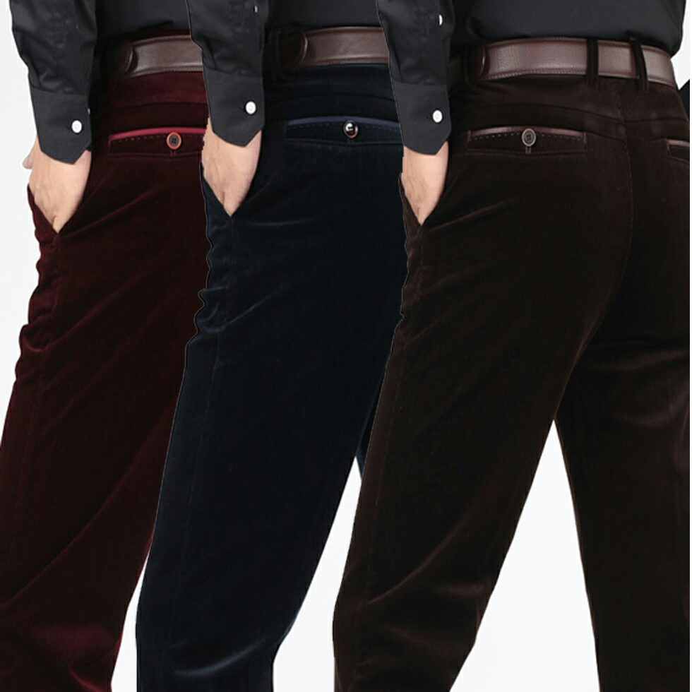 I Fuyou loose in autumn winter men's casual pants corduroy