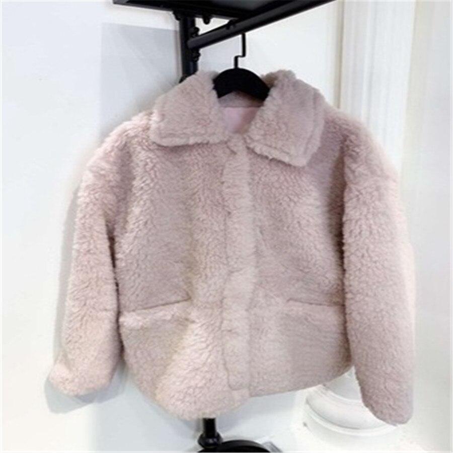 Peluche Faux Qualité Yellow En Cachemire De pink D'hiver Transparent Veste 2019 Manteau Femmes Nouvelles Chaud Fourrure Haute qyCPA