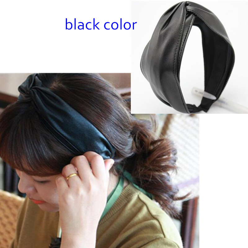 Hot Sale Fashion Leather Hairband for Women Knot Double-Layers PU Leather Hair Accessories Women Hairband Headwear IN STOCK