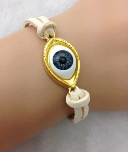 1 pc עין רעה צמיד בעבודת יד מכלול תכשיטי מזל טוב מזל טוב הגנת גלגל העין צמיד 1667
