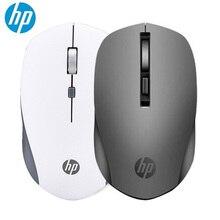 Новая беспроводная мышь hp S1000 2,4G, настольный ноутбук, компьютерные мыши 1600 точек/дюйм, расширенная невидимая оптическая беззвучная мышь черного и белого цвета игровая мышка