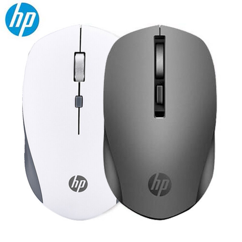 New HP S1000 2.4G Wireless Mouse Desktop Laptop Computer Mice 1600dpi Advanced Invisible Optical Mute Mouse Black & White Color