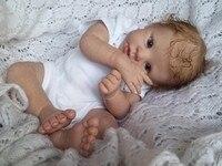 Reborn Baby Doll Kit Toddler Silicone Vinyl Soft Head 3/4 Arms Full Legs Lifelike Reborn Babies Dolls Accessories