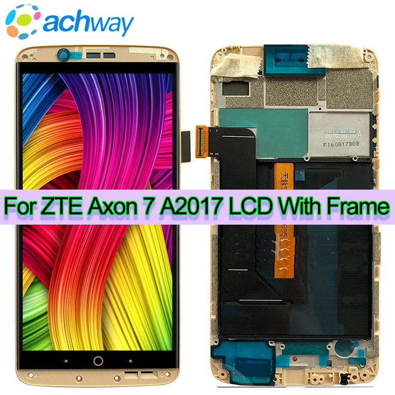 AMOLED Für ZTE Axon 7 LCD A2017 A2017U A2017G Display Touchscreen Digitizer Aseembly Ersatz Axon7 Für Axon 7 A2017 LCD