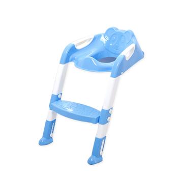 Fotelik dziecięcy składany deska klozetowa fotel treningowy z regulowana drabina trener fotele bezpieczeństwa 2 kolory tanie i dobre opinie Z tworzywa sztucznego 60920S-F 7-9 M 4-6 M 0-3 M Potties Stałe