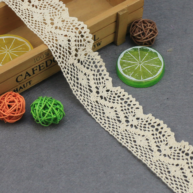 5yards/lot 46mm Cotton Lace Hometexile Cloth Wrap Knitting Embellishments DIY Patchwork Crafts Lace Trims Scrapbooking