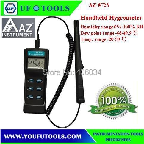 AZ 8723 Handheld Type Digital Thermometer Hygrometer -10-60degree AZ8723 Digital temperature humidity meter Psychrometer AZ-8723