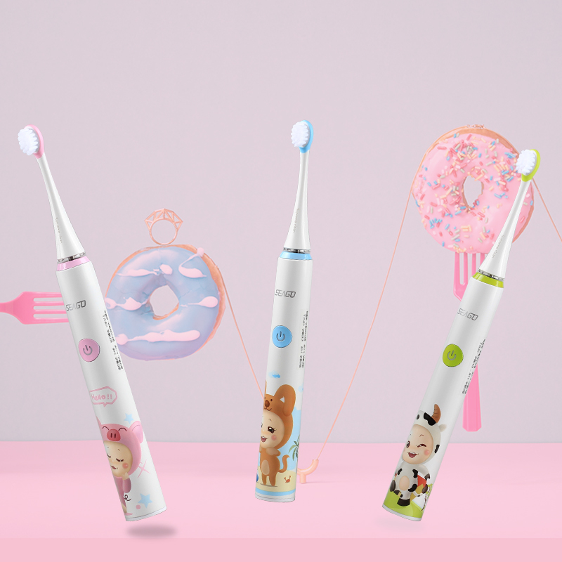 Seago Sonic Electric Toothbrush for Children kid 3-12 years Cartoon Four-speed Washable Teeth Tooth brush Electric USB chargeSeago Sonic Electric Toothbrush for Children kid 3-12 years Cartoon Four-speed Washable Teeth Tooth brush Electric USB charge