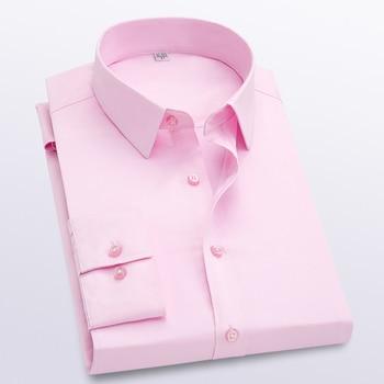 New 8-color men's shirts long-sleeved men's shirts casual slim men's shirts menswear 2019 menswear formal shirts Size M - 5 xl фото