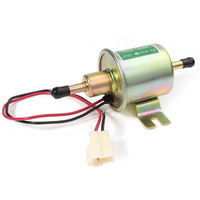 OSIAS New Silver Golden Aluminium 12V Universal Car Boat Fuel Pump Metal Solid Electric Diesel HEP