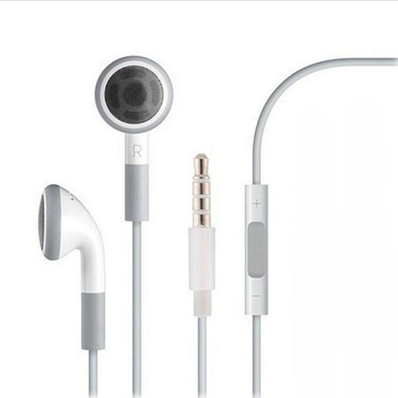 Stereo 3.5mm jack Headset Earphone Volume Control & Mic for iPhone 6 6s 5 5S 4 4S 3GS iPod ipad 2 3 Handfree Headphone Earbuds 3 5mm jack headset earphone mic