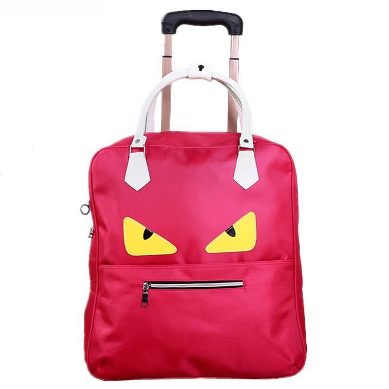 LHLYSGS Brand Little Monster Fashion Luggage Trolley Bag Large Capacity Suitcase  Travel Bag High Quality Waterproof 76b8fef6bf5af
