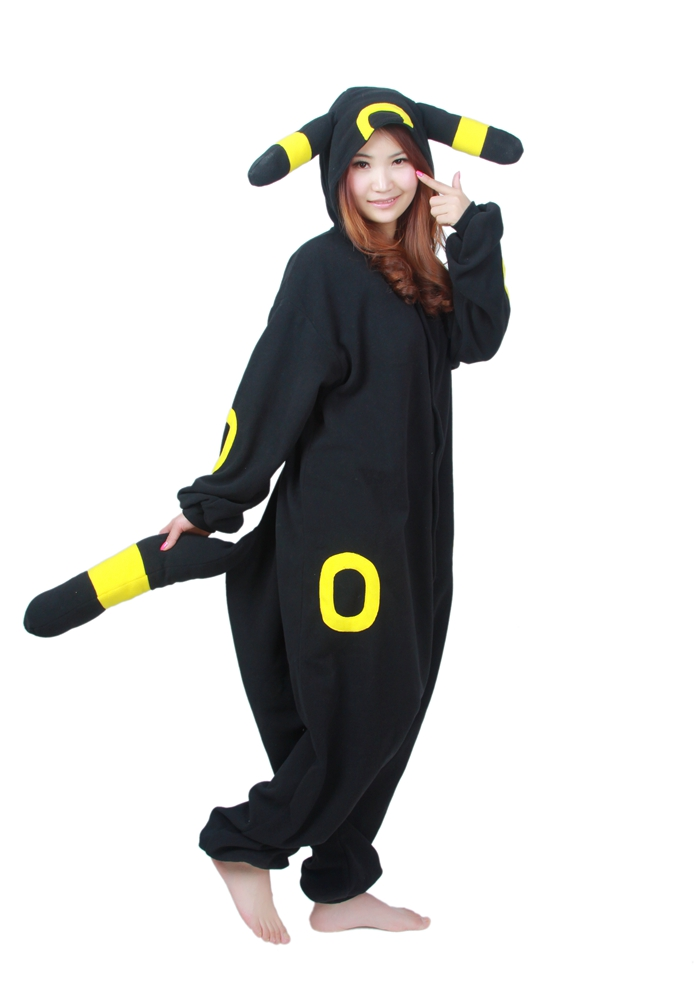Unisex Fleece Adult Umbreon Onesies Animal Cosplay Costume Halloween Xmas Pajama