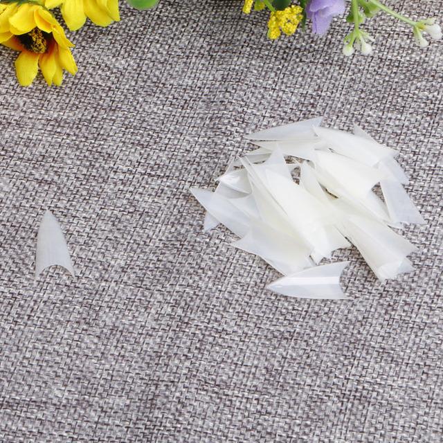 500PCS False Point Stiletto UV Gel Acrylic Nail Beauty Tips Clear Natural White