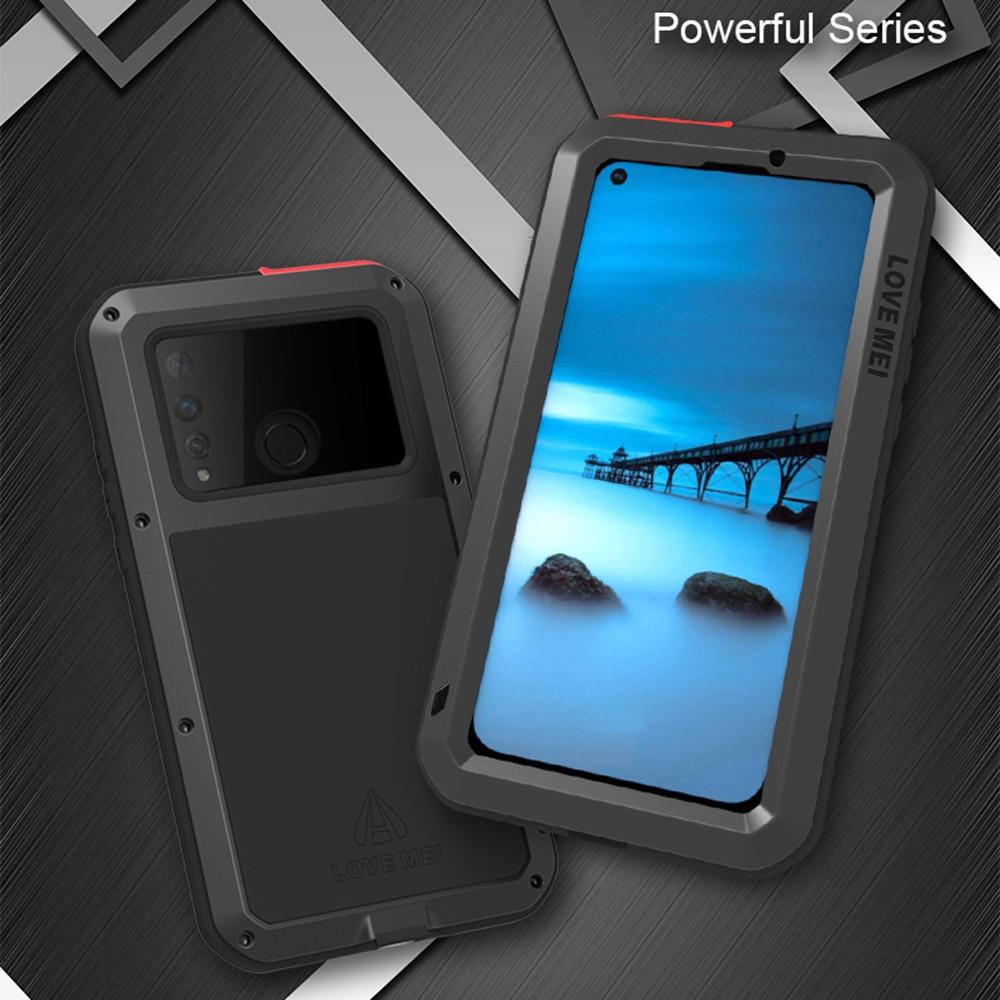 Pour Huawei P30 Pro étui amour MEI choc résistant à la saleté résistant à l'eau en métal armure couverture téléphone étui pour Huawei P30 Lite P30