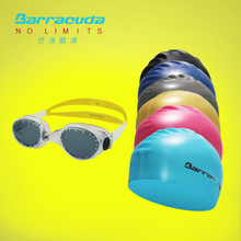 Barracuda Swimming Goggles professional swimming goggles suit #FLITE & Flat Silicone Cap (Standard) Package(YELLOW goggles)